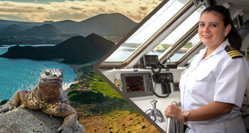 Pela primeira vez na história da indústria de cruzeiros, uma marinheira irá navegar no arquipélago de Galápagos como capitã. Natural do Equador, Nathaly Albán comandará o ultra-exclusivo Celebrity Xploration recentemente revitalizado.