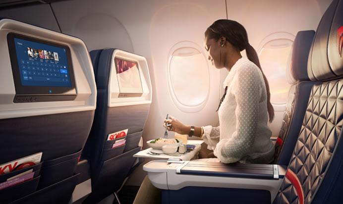 Delta oferece para mais clientes a opção de escolher as refeições antes de voar