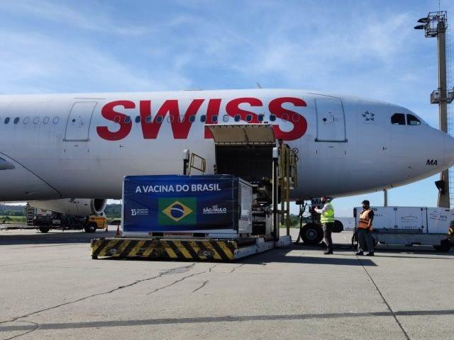 SWISS WorldCargo traz mais de 14 toneladas de vacinas da COVID-19 para São Paulo